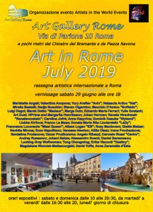 Art in Rome July 2019 locandina-rr